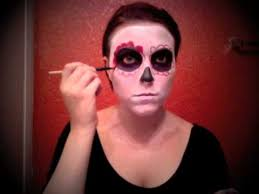 easy day of the dead makeup tutorial