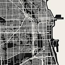 Chicago Map Wall Art by Fine Art Printphotography Prints By Ah Young Jeon Memento Mori