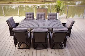 Outdoor Wicker Dining Set 9pc Palmetto Deep Seating