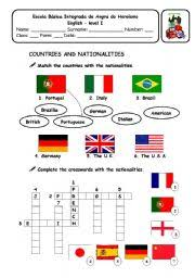 countries and nationalities workheet n 2858