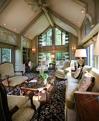 living room with vaulted ceiling vaulted ceiling curtains family room traditional with exposed