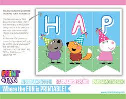 bunting banner peppa pig party printables descarga inmediata