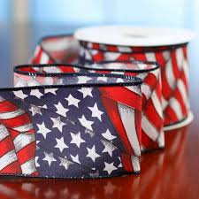 flag decorations for home american flag ribbon americana decor home decor