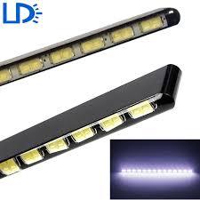 led daylight strip light car drl led daytime running light 14 15 18 leds auto l ultra thin