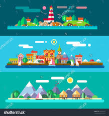 resort stock vectors vector clip art shutterstock landscapes by