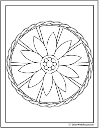 geometric mandala coloring pages funycoloring