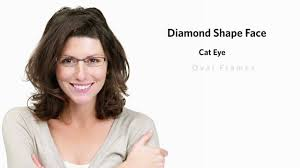 frames for a diamond face shape female youtube