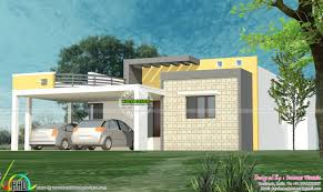 Flat Roof House 111 Sq M Flat Roof House Plan Kerala Home Design And Floor Plans