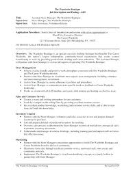 sample resume of store manager retail cover letter sales associate