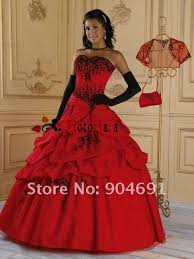 black n red wedding dresses lace up back red and black wedding