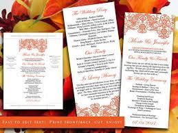 the 25 best diy wedding program template ideas on pinterest