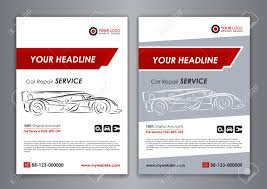 auto repair brochure templates mockup poster abstract arrow