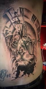 tattoo design lion 30 incredible clock tattoo designs