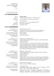 Best Resume Format With Example by Format Of European Cv