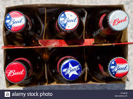 how much is a six pack of bud light a six pack of bottles of budweiser beer with varied caps usa stock