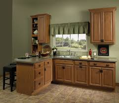 Olive Green Kitchen Cabinets Bathroom Inspiring Kitchen With Wooden Merillat Cabinets And