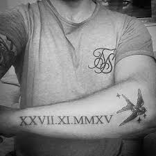 Numerals On Forearm 100 Numeral Tattoos For Manly Numerical Ink Ideas