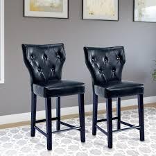 Black Leather Bar Stool Walker Edison Furniture Company Bar Stools Kitchen U0026 Dining