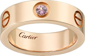 cartier love rings images Crb4064400 love ring pink sapphires pink gold sapphire cartier png