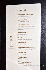 008 carnival magic prime steakhouse menu entrees and sides