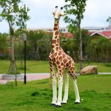 simulation animal big giraffe ornaments garden outdoor sculpture