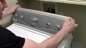 how to open or remove a washer dryer control panel whirlpool