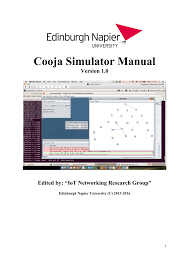 cooja simulator manual pdf download available