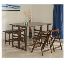 buy musk 1 2 bench dining set home by nilkamal cappucino
