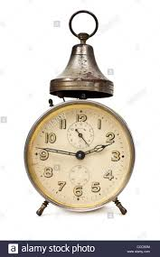 Old Fashioned Alarm Clocks Antique Bedside Alarm Clock Made In Wurttemberg Germany Stock