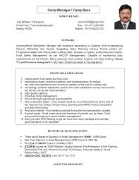 Ccna Resume Sample by Simon Cv For Camp Manager Camp Boss