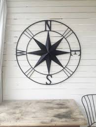 wood compass wall this rustic large metal compass displays as a lovely