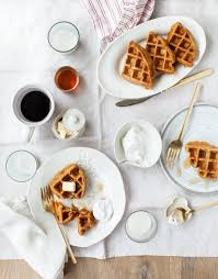 vegan carrot waffles recipe love and lemons