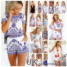 summer dresses uk womens mini playsuit jumpsuit summer shorts