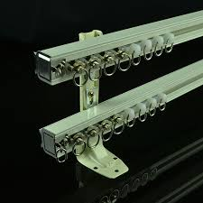chr8122 ivory double curtain tracks wall mount curtain rails
