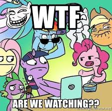 My Little Pony Meme Generator - wtf are we watching this is what we see in my little pony meme