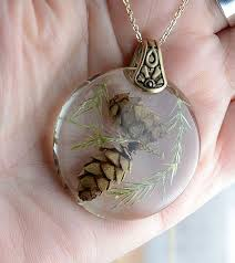 diy resin necklace images Diy jewelry pine cones in resin necklace set in brass botanical jpg