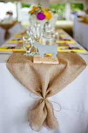 fabric for table runners wedding buckets of burlap diy burlap runners hessian and burlap table
