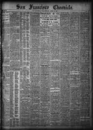 francisco chronicle from san francisco california on april 18 1881