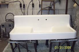Real Porcelain Enamel Coating To Restore Your Drainboard Sink Tub - Kitchen sink tub