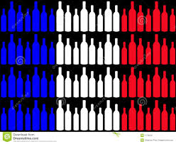 Image French Flag Great French Reds For The Summer Wine On The Street