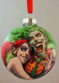 harley quinn and joker ornament by gothamcitycharms