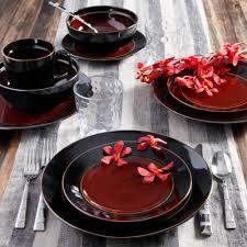 modern kitchen plates gibson studio villa mosa 16 piece dinnerware set round walmart com