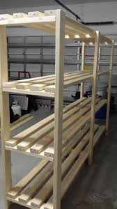Building Wood Shelf Garage by Diy Wood Storage Shelves Shelving Ideas