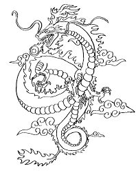 coloring chinese dragon coloring page