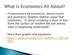 Steven Landsburg The Armchair Economist What Is Economics All About Ppt Download