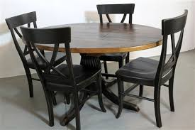 Pedestal Tables And Chairs Round Farmhouse Tables