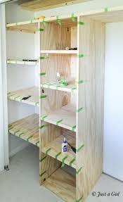 Wooden Shelves Diy by Best 25 Closet Shelving Ideas On Pinterest Small Master Closet