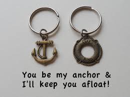 bronze anniversary gifts bronze anchor lifesaver ring keychain set jewelryeveryday