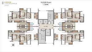 3 Bhk Apartment Floor Plan by Lodha Luxuria Priva Uber Luxe Residences Lodha Group