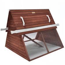 advantek the chalet poultry hutch in auburn u0026 white petco